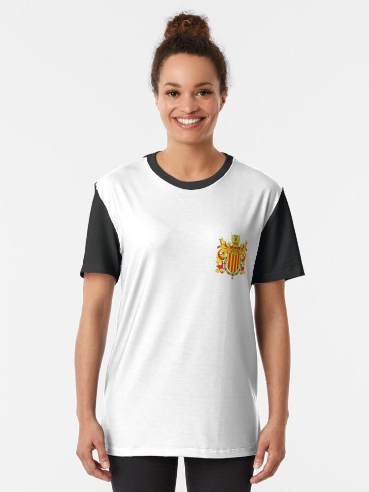 Alternate view of Coat of arms of Catalonia, Escudo de armas de cataluña, Coat of arms, arms, crest, blazon, cognizance, childrensfun, purim, costume Graphic T-Shirt