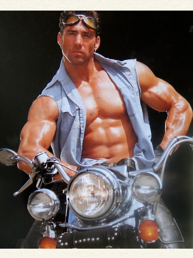 Billy Herrington on motorcycle Pullover Hoodie by