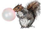 BubbleGum Bubble Squirrel Greeting Card by heARTcart