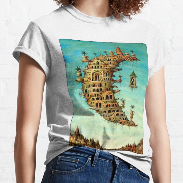 DALI : Vintage Living on the Moon Abstract Painting Print Classic T-Shirt