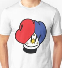 MP Mickey Pacquiao Filipino Flag Boxing Glove by AiReal Apparel T-Shirt