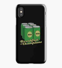 Beer Breakfast of Champions Vintage  iPhone Case