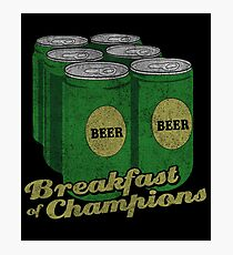 Beer Breakfast of Champions Vintage  Photographic Print