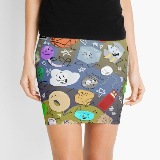 Battle for BFDI Mini Skirt
