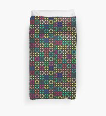 Bright Multi Colored Modern Quatrefoil Duvet Cover