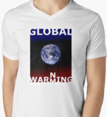 Global warming (TS) Mens V-Neck T-Shirt
