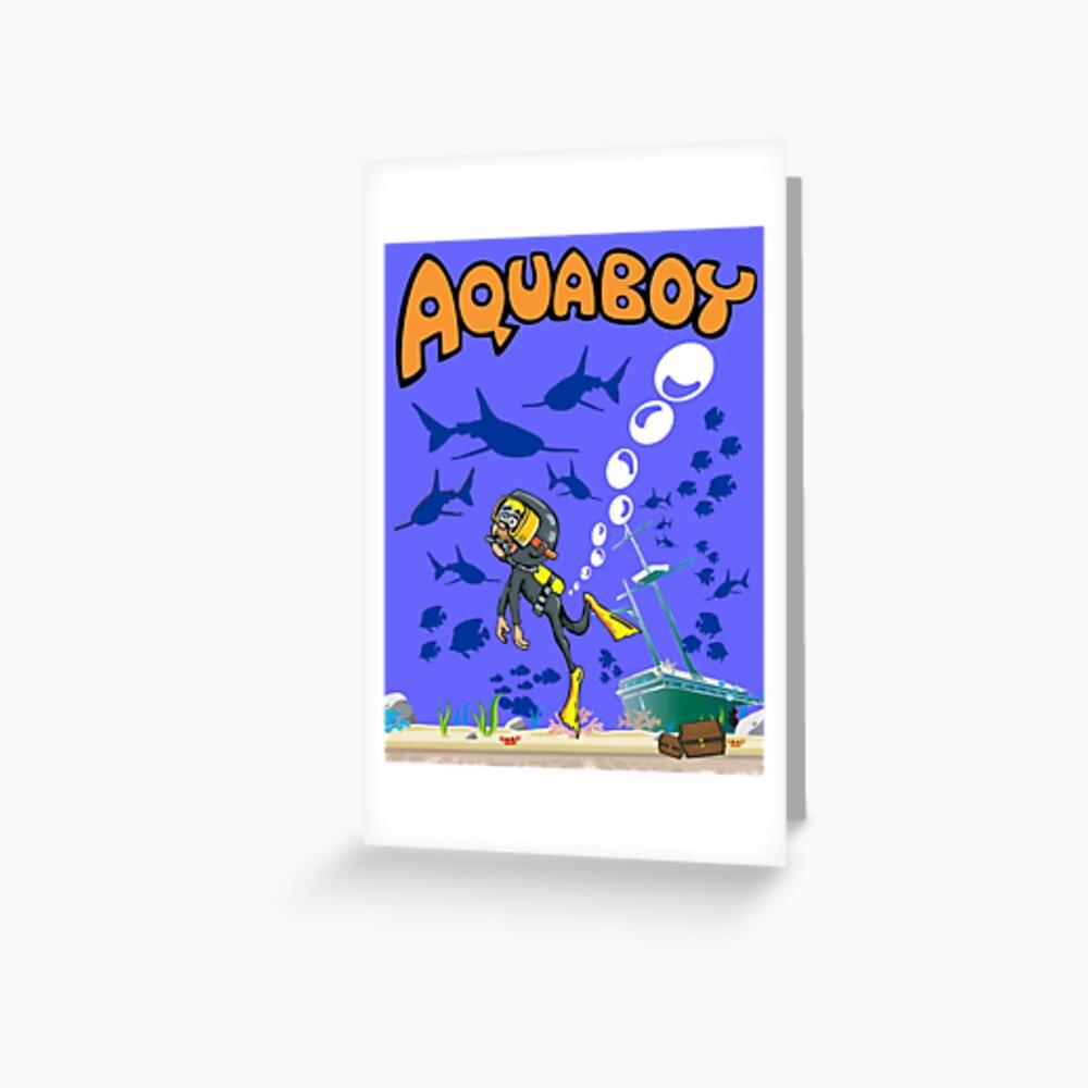 Aquaboy - Tiefblaues Meeresabenteuer Grußkarte