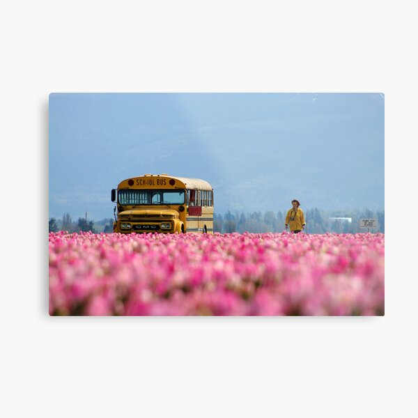 School Bus, Magic Bus. Metal Print