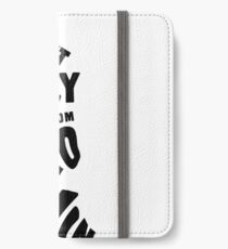 Sweet Nancy - Black iPhone Wallet/Case/Skin