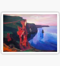 Cliffs of Moher in County Clare Ireland at Sunset  Sticker