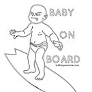 Baby on (surf)Board by inklingcomics