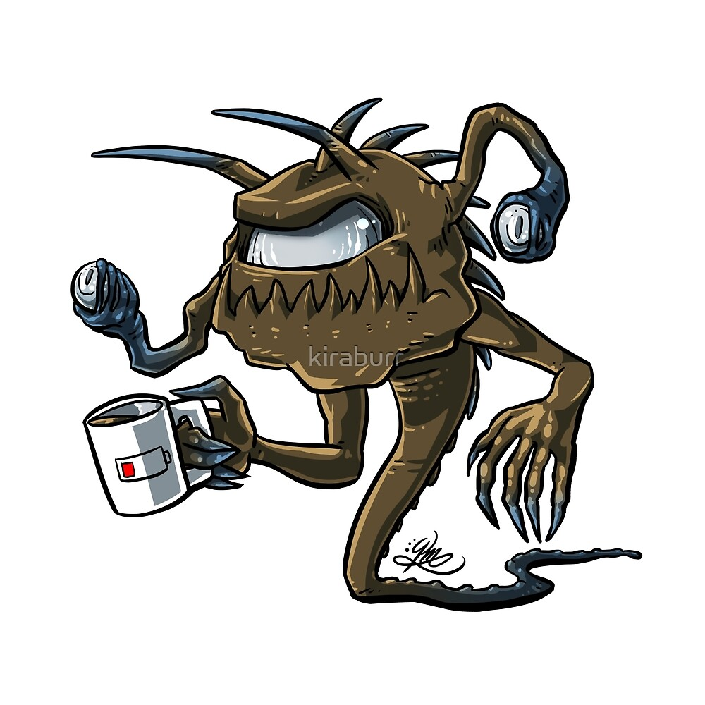 d d inspired coffee monster tarrasque beholder by kira moses