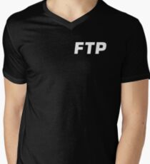 ALL OVER FUCK THE POPULATION FTP (ALL ENABLED) Men's V-Neck T-Shirt