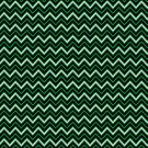 Chevrons - Green and Silver by Sarinilli