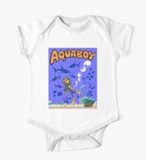 Aquaboy - Tiefblaues Meeresabenteuer Baby Body Kurzarm