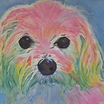 Rainbow Maltese #2 by TraceyLeeCassin