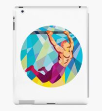 Crossfit Pull Up Bar Circle Low Polygon iPad Case/Skin