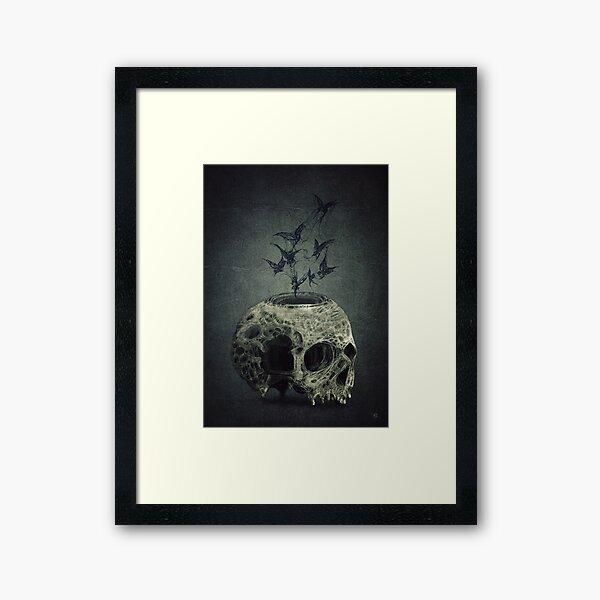 Skull Bats Framed Art Print