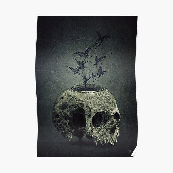 Halloween Cyber Space Alien Skull Coin Purse