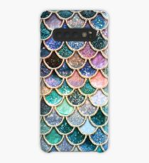 Teal, Silver and Pink Sparkle Faux Glitter Mermaid Scales Case/Skin for Samsung Galaxy