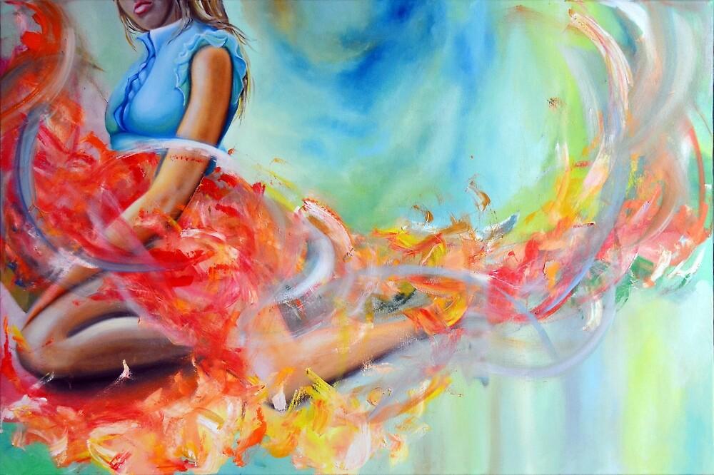 Blue Symphony, 120-80cm, 2018, oil on canvas by oanaunciuleanu