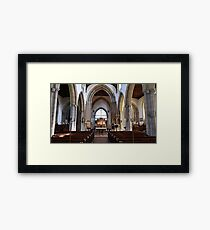 The Church of England end of the Church. Framed Print