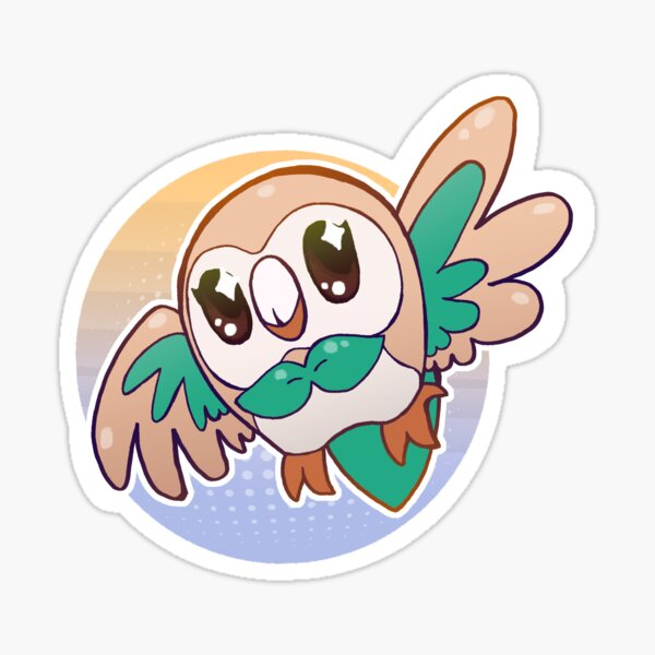 Rowlet Alolan Sunset Sticker