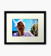 David C - Trapped In Thought - Light Colour Framed Print