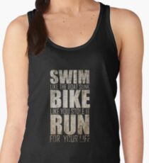 Triathlon - Swim, Bike, Run, Funny Triathlete Women's Tank Top