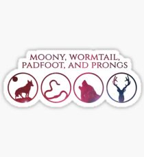 Moony, Wormtail, Padfoot, Prongs Sticker