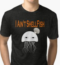 Seashell Jellyfish With Funny Quote Shirt Tri-blend T-Shirt