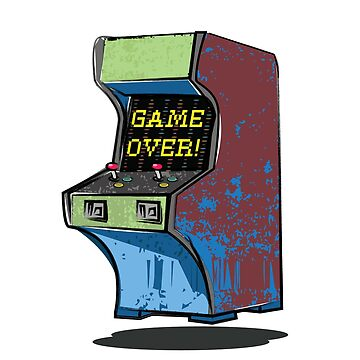 Video Game Cabinet - Game over by rooosterboy