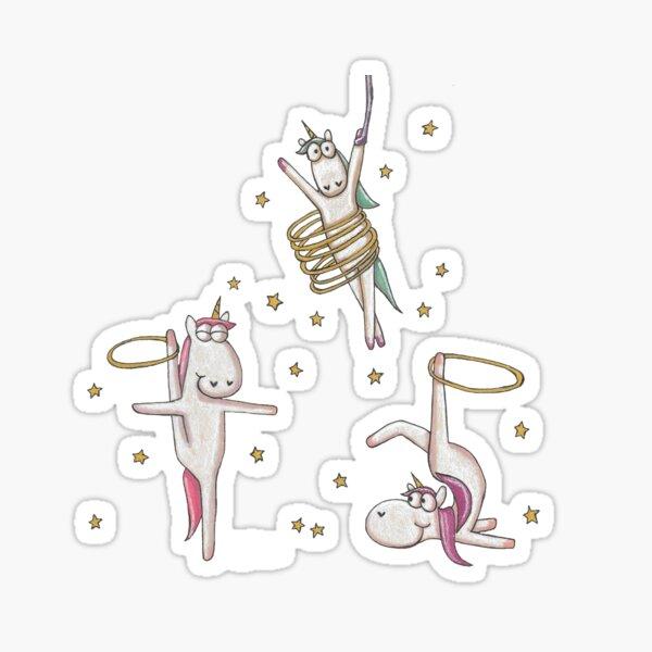 Hula Hooping Unicorns Sticker