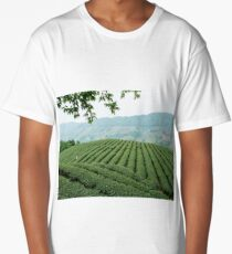 Tea Plantation, Chiang Rai, Thailand Long T-Shirt