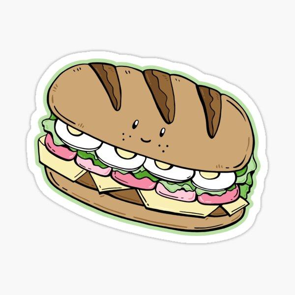 Healthy sandwich Sticker