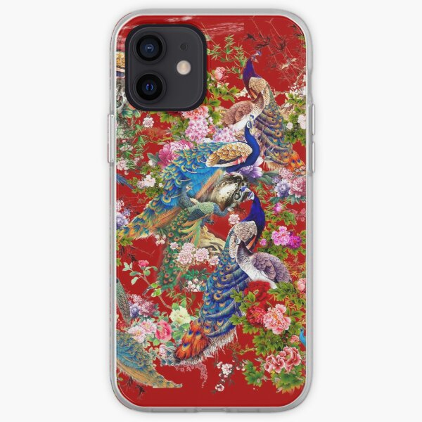 Peacocks & Peonies iPhone Soft Case