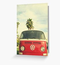 VW Coastin' Greeting Card