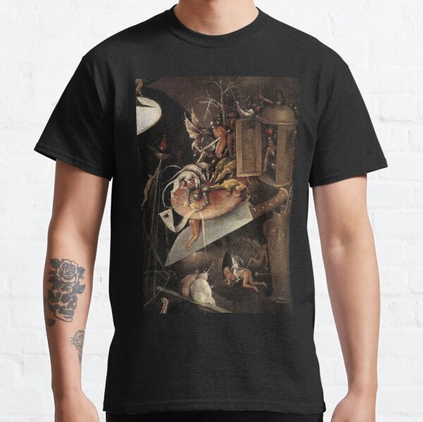 Monsters eating a Knight by Hieronymus Bosch Classic T-Shirt