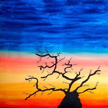 Sunset Tree by artforsoul