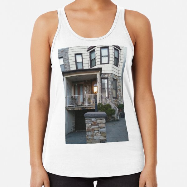 #Happiness, #Building, #Skyscraper, #NewYork, #Manhattan, #Street, #Pedestrians, #Cars, #Towers, #morning, #trees, #subway, #station, #Spring, #flowers, #Brooklyn  Racerback Tank Top