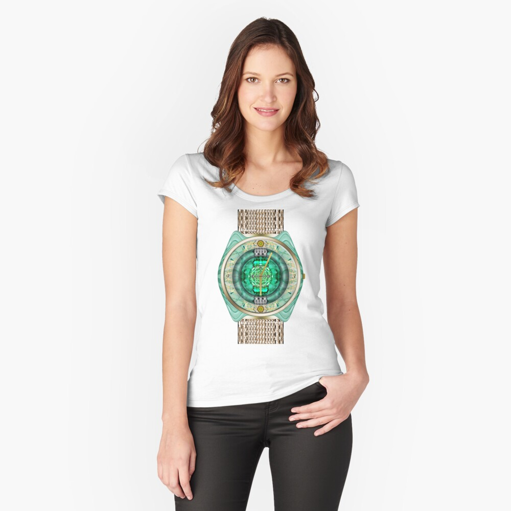 Glass Watch Fitted Scoop T-Shirt