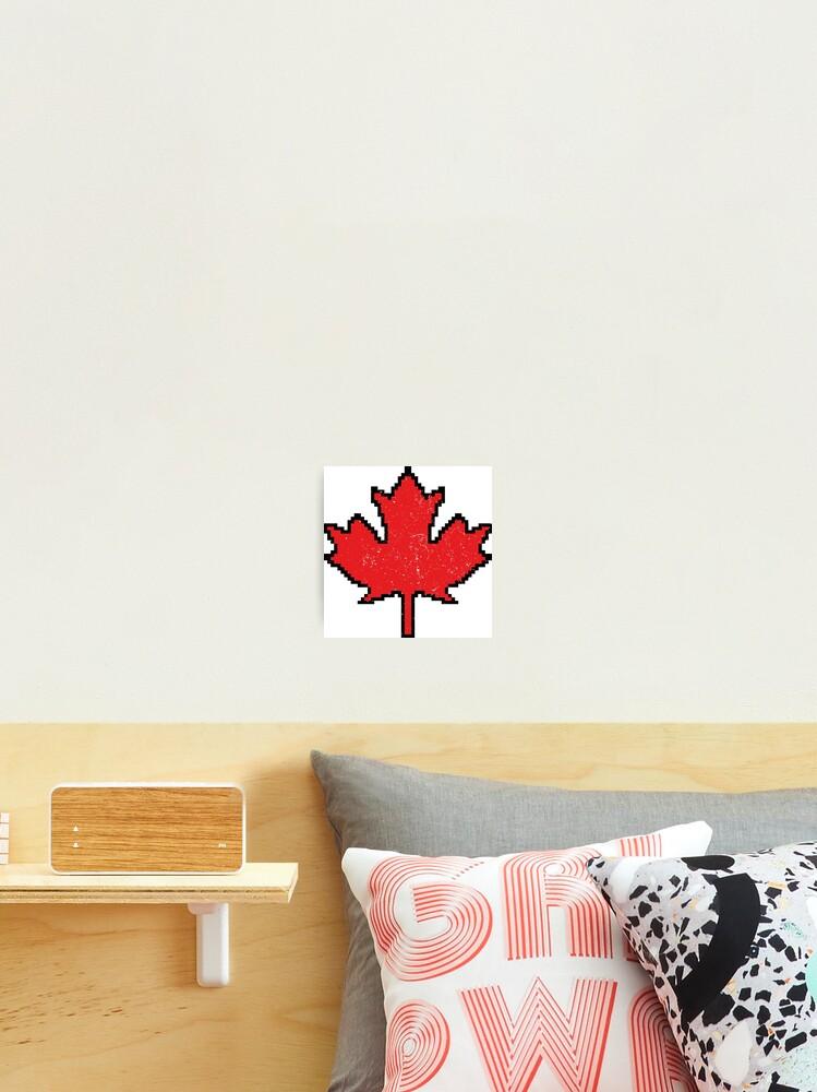 Impression Photo Feuille D Erable 8 Bits Pixel Canada Par Graphicbazaar Redbubble