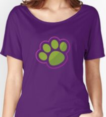 Puppy Paw Print. Women's Relaxed Fit T-Shirt