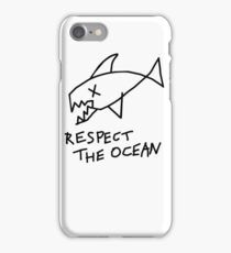 Respect the Ocean - Cool Grunge Mashup - White Version iPhone Case/Skin