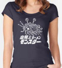 The Flying Ramen Monster Women's Fitted Scoop T-Shirt