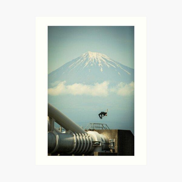 Mt. Fuji Back Flip Art Print