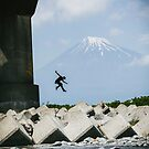 Mt. Fuji Parkour Bridge by ediphotoeye