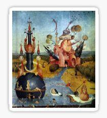 Heavenly dreamscape by Hieronymus Bosch Sticker