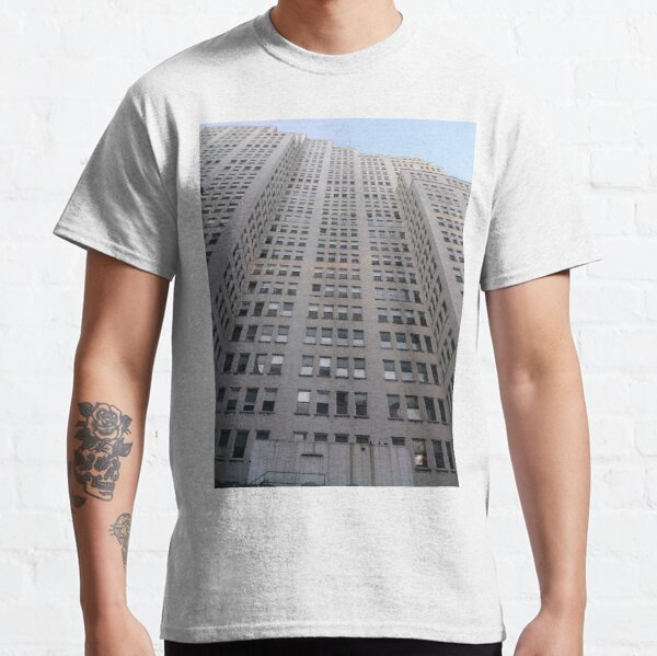#Happiness, #Building, #Skyscraper, #NewYork, #Manhattan, #Street, #Pedestrians, #Cars, #Towers, #morning, #trees, #subway, #station, #Spring, #flowers, #Brooklyn  Classic T-Shirt