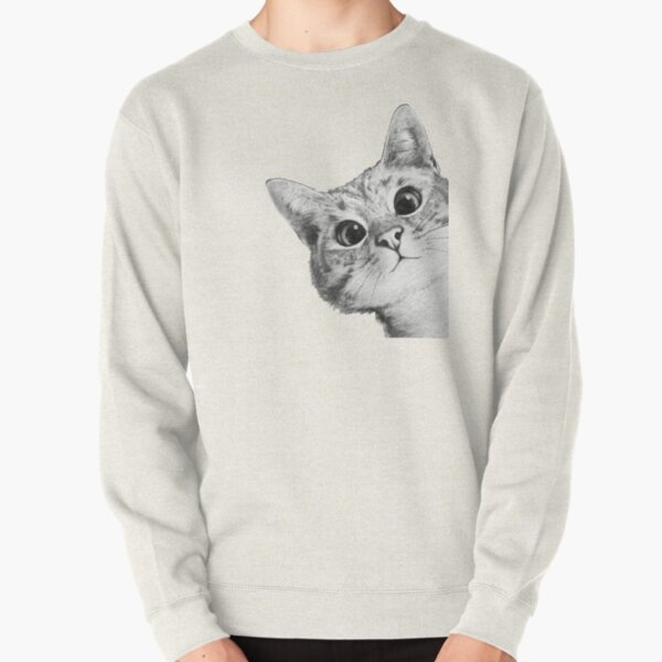 sneaky cat Pullover Sweatshirt